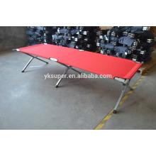 Cama forte para cama de dobramento de metal, berço dobrável para exterior.