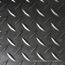 Diamante tipo patrón antideslizante goma hoja caucho piso alfombra