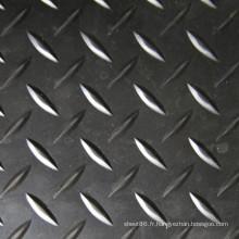 Tapis de caoutchouc de feuille en caoutchouc antidérapant de modèle de diamant