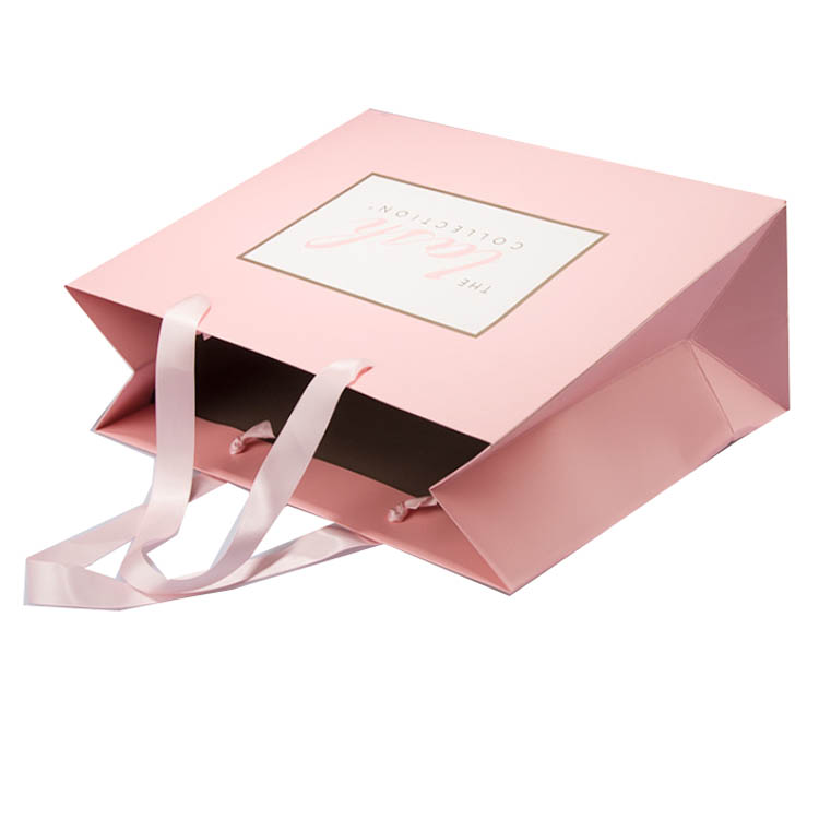 Pink Paper Shopping Bags