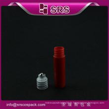 Nouveau style mini poche 5ml en plastique avec rouleau en acier sur bouteilles bouteilles d'huile de cheveux