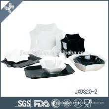 offizielles weißes und schwarzes bayerisches Porzellan-Geschirrset