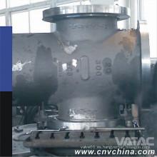Acero fundido y forjado de carbono / acero inoxidable a través de la válvula de compuerta de conducto
