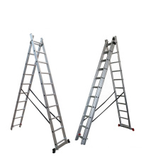 hot sale Extension ladder 8 foldable aluminum with safty profile