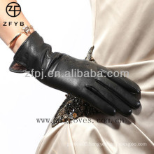 Beautiful crafted super soft lamb skin gloves
