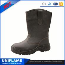 Botas de segurança de couro de alta corte Ufa066