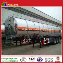 Heizöl Diesel-Tankwagen halb Anhänger Aluminium-Legierung Tanker