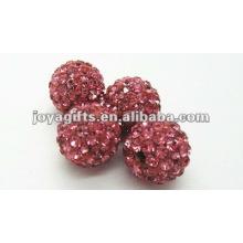 Shamballa boule de cristal en argile pour bracelet, boucle d'oreille, collier
