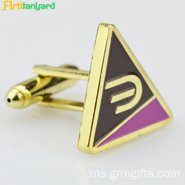 Metal Cufflink Dengan Enamel Synthetic