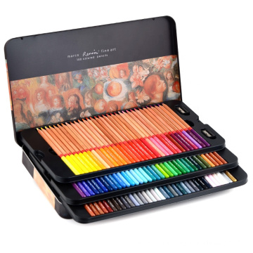 Andstal Renoir 120 Colors Professional Oil Color Pencil 12/24/48/72/100/120 Art Set drawing sketch Colour colored pencils