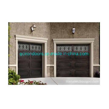 Wrought iron garage doors