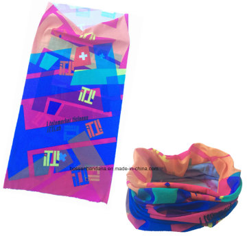 Custom Made Polyester Microfiber Elastic Logo personnalisé imprimé multifonctionnel Sports Buff Bandana Scarf