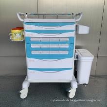 Hospital Steel ABS Convenient Medicine Trolley