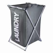 Laundry Hamper with Aluminum X-Frame and 600D Oxford Bag