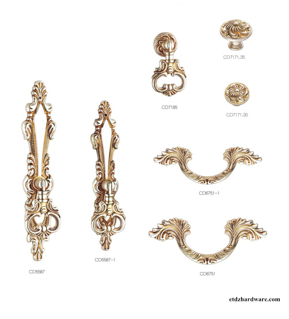 High Quality Beautiful Nature Art Classical Handle For Wardrobe