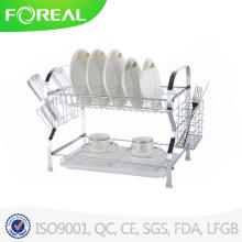 2015 Neue Design-Metallplatte 2-Tier Dish Rack