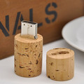 Cilinder Hout Ontwerp USB Flash Drive Light
