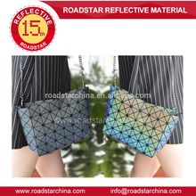 Mini cube rainbow reflective bag for women