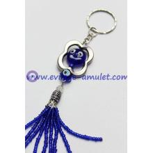 Evil eye smiling face protection key chain wholesale