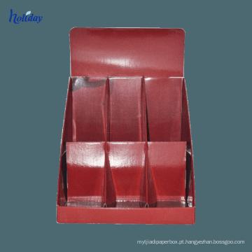 Display de cartão postal Display de mesa de pegboard ondulado