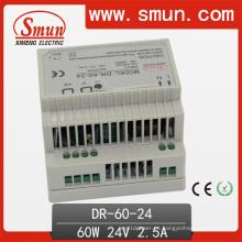 Conmutación de la fuente de alimentación de 60W 12V 15V 24V 48V Dinrail
