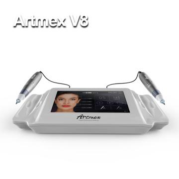 Artmex V8 новейшая цифровая полуавтоматическая татуировочная машина для бровей для макияжа