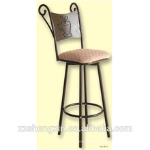 Заводская цена Спинка Барный стул Металлическая стальная трубка