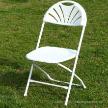 Cadeira de dobramento plástica comercial do quadro do metal para a escola
