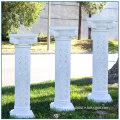 White Hollow Fiberglass Column for Wedding Decoration