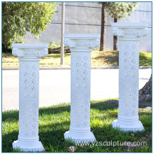 White Hollow Fiberglass Column for Wedding Decoration