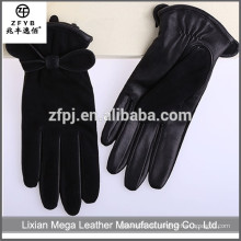 Großhandel Niedriger Preis-Qualitäts-Art- und Weisefaux-Leder-Handschuh