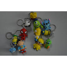 3D Lovely Cartoon Toy Shape Soft PVC Keychain (BZKC004)