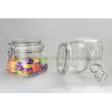 Frasco de alimento hermético plástico do animal de estimação para doces doces (PPC-37)