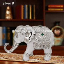 Artesanato de resina de elefante em estilo da Tailândia para decoração de casa, artesanato de elefante de resina caseira