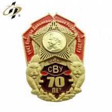 Factory die struck custom 3d enamel military souvenir cap badge