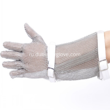15cm+Long+Cuff+Meat+Processing+Mesh+Gloves