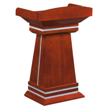 Chairman presenter host small lecture table