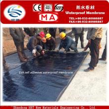 Membrane imperméable auto-adhésive d'EVA pour des tunnels