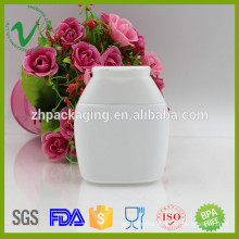 HDPE OEM custom white empty mouthwash plastic bottles with flip top cap