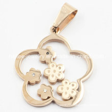 Imitation Stainless Steel Fashion Flower Pendant Jewelry