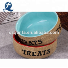 Personalized Eco-Friendly Custom Cat Dog Feeders Ceramic Pet Bowl