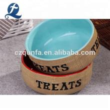 Personalized Eco-Friendly Custom Cat Dog Feeders Ceramic Pet Bowl