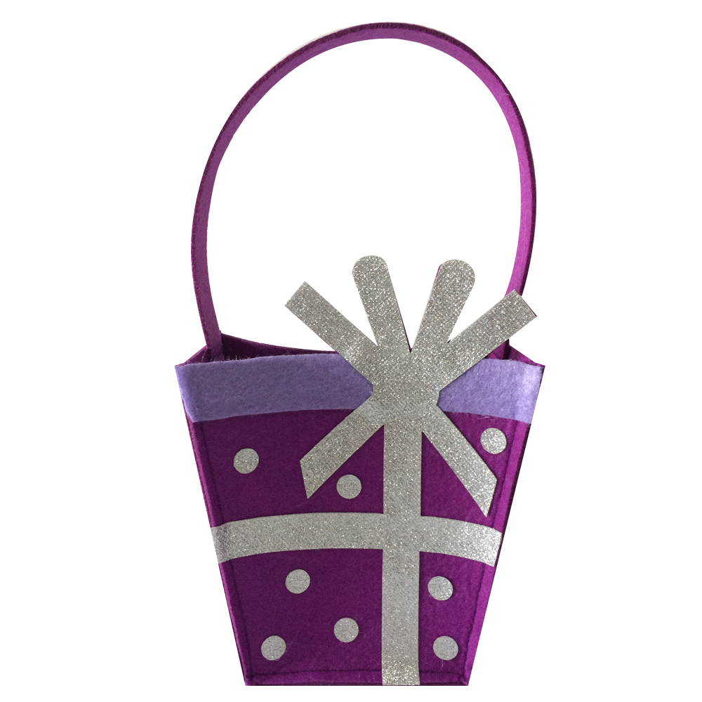 Purple Happy Birthday Candy Storage Bag