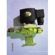 Latão eletromagnético 24v dc solenóide válvula solenóide hidráulica