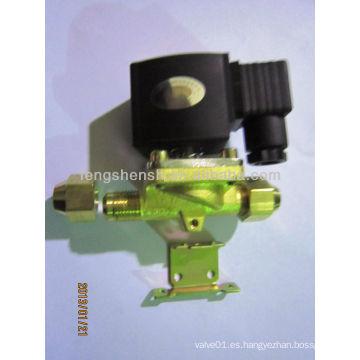Electroválvula electromagnética de latón de 24v dc válvula solenoide hidráulica