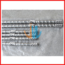 Vis et baril d'extrudeuse pour machine de soufflage de film