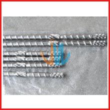 Tornillo extrusor y barril para máquina de soplado de película
