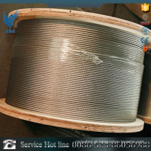 Nylon galvanizado de corda de aço inoxidável coberto 7 * 19 1.2mm