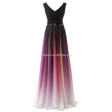 V-neck Lace-up Back Prom Dress Cheap Long 2016 Hot Sale Free Shipping Pleats Evening Dresses Formal Party Dress Robe De Soriee