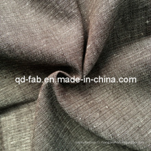 Tissu teint en fil de lin en coton (QF13-0739)